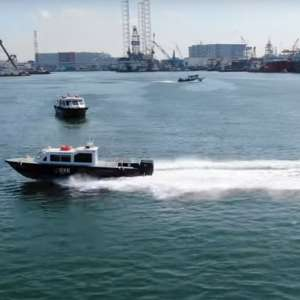 Delivery of 9m High Speed Diesel Outboard Motor Demonstrator Video